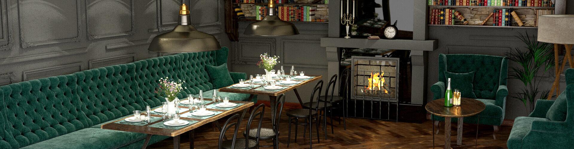 Дизайн интерьера Ресторана, Кафе © AbiStyle Дизайн студия в Киеве