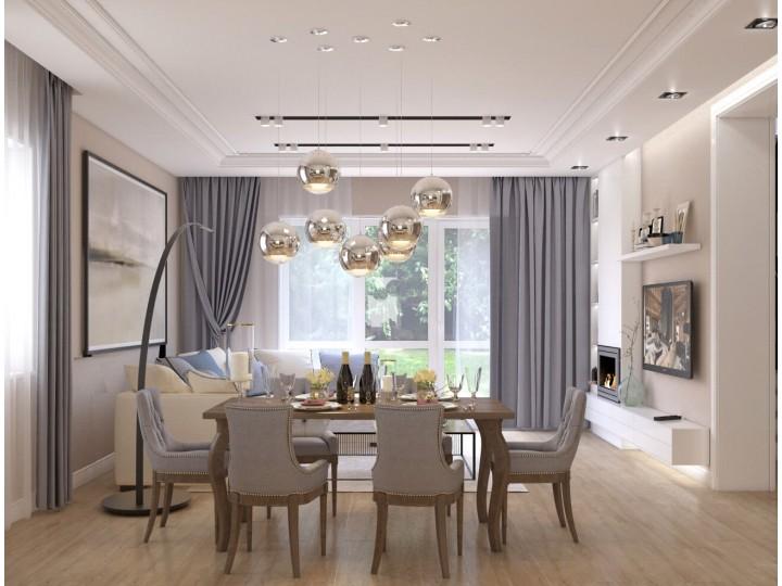 Интерьер частного дома 169м² с. Гора, Дизайн студия © AbiStyle
