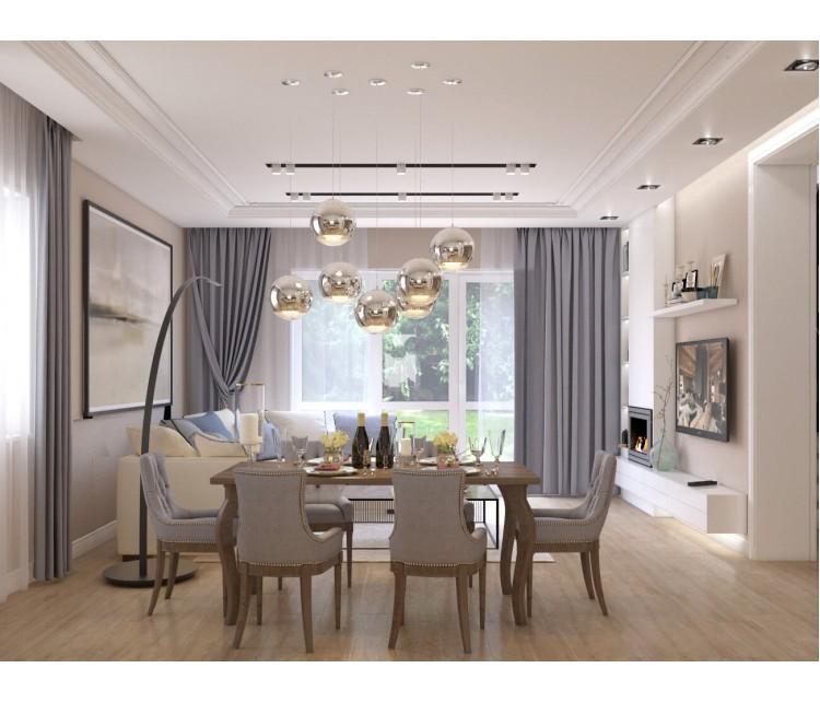 Дизайн проект частного дома 169м² с. Гора, Дизайн студия © AbiStyle