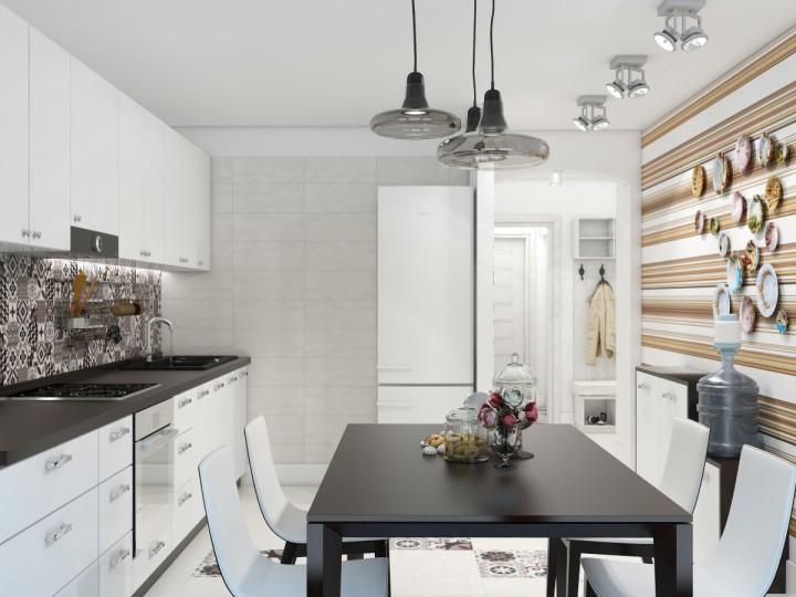 Интерьер дома 100м² с. Колонщина, Дизайн студия © AbiStyle