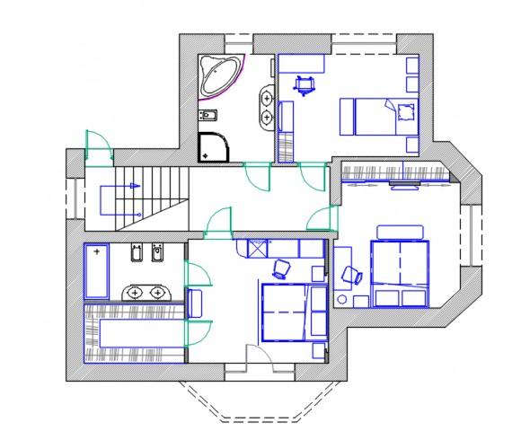 Дизайн проект двухэтажного дома 215м² с. Крушинка