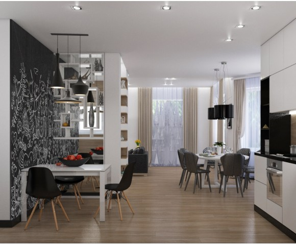 Дизайн проект загородного дома 250м²  с.Нова
