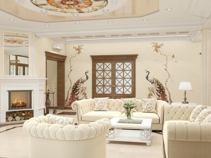 Интерьер частного дома 300м² с. Погребы, Дизайн студия © AbiStyle