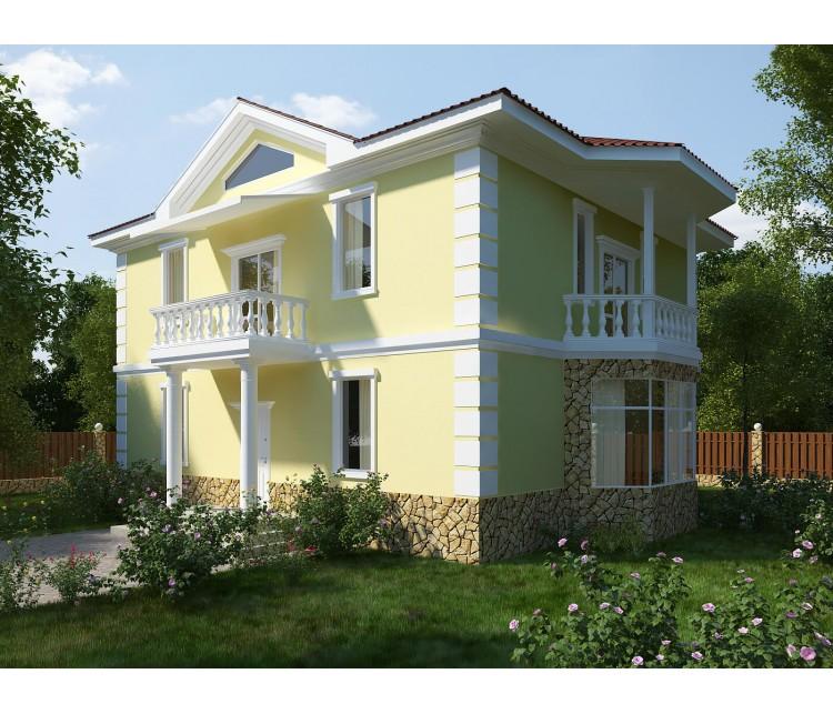 Дизайн проект частного дома 86м² с. Белогородка, Дизайн студия © AbiStyle