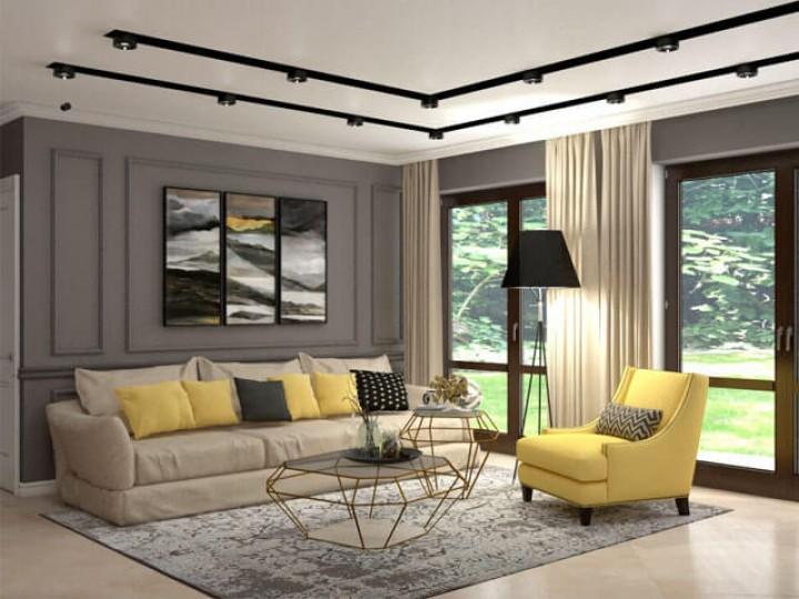 Интерьер частного дома 150м² г. Гостомель, Дизайн студия © AbiStyle
