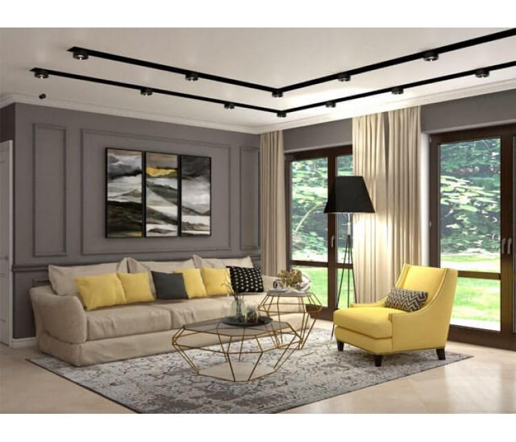 Дизайн проект частного дома 150м² г. Гостомель, Дизайн студия © AbiStyle