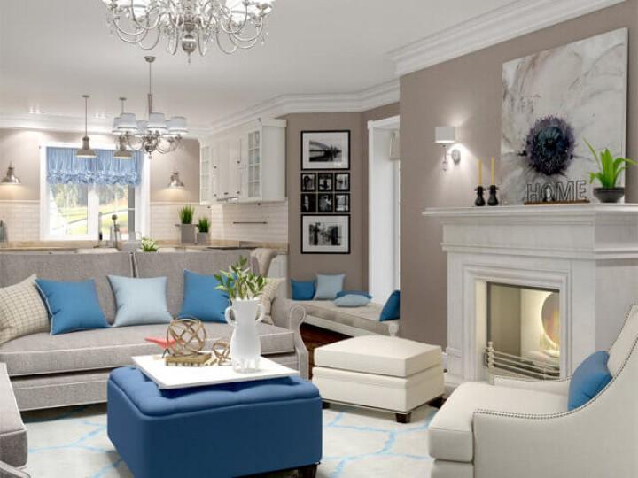Интерьер коттеджа 153м² Green Hills, Дизайн студия © AbiStyle