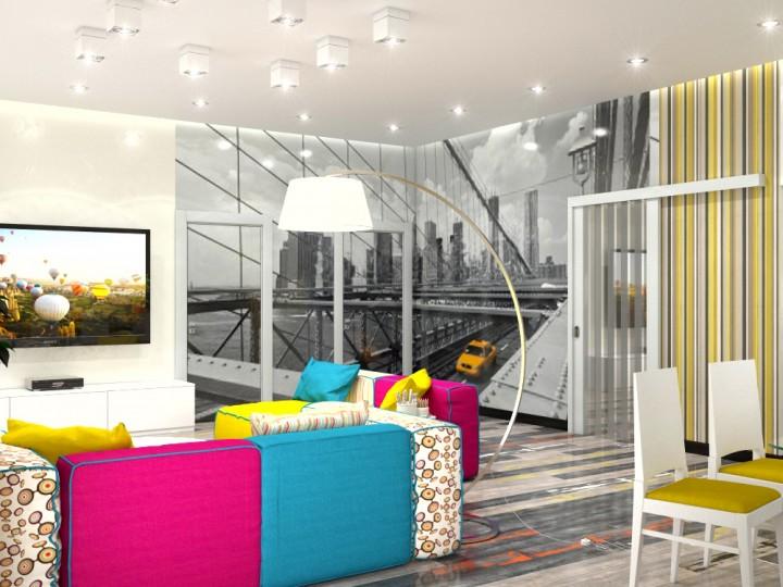 Интерьер дома 203м² в поселке Ворзель, Дизайн студия © AbiStyle