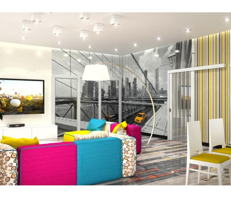 Дизайн проект дома 203м² в поселке Ворзель, Дизайн студия © AbiStyle