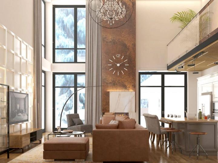Интерьер частного дома 500м² г. Киев, Дизайн студия © AbiStyle