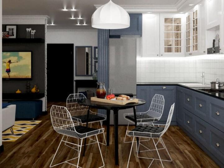 Интерьер квартиры 53м² Киев, Дизайн студия © AbiStyle