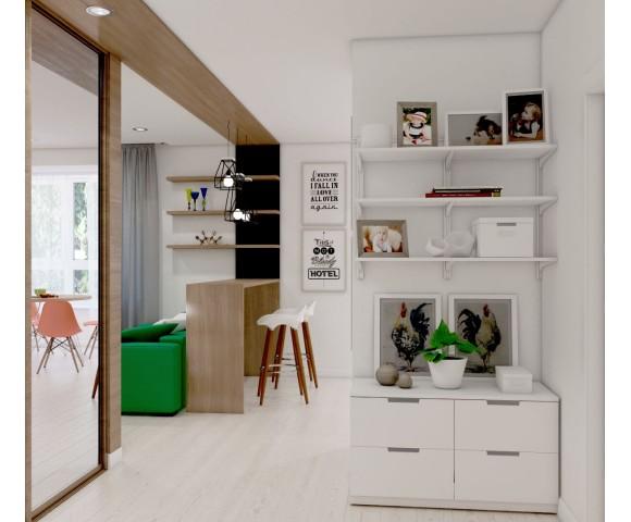 Дизайн проект квартиры 57м² г. Кременчуг
