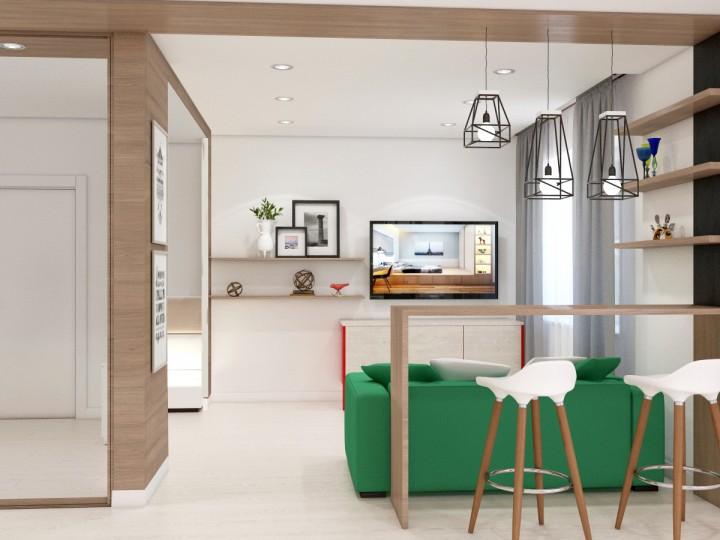 Интерьер квартиры 57м² г. Кременчуг, Дизайн студия © AbiStyle