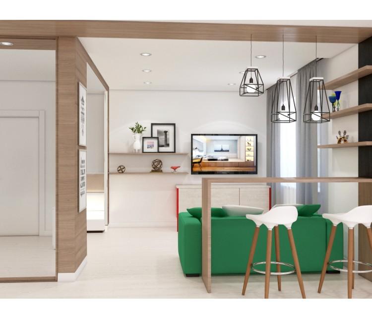 Дизайн проект квартиры 57м² г. Кременчуг, Дизайн студия © AbiStyle
