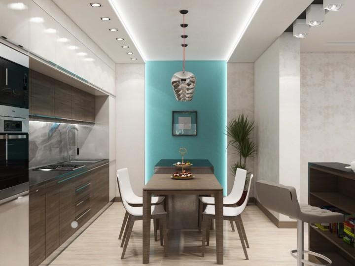 Интерьер квартиры 90м² в Киеве, Дизайн студия © AbiStyle