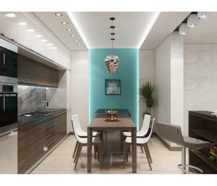 Дизайн проект квартиры 90м² в Киеве, Дизайн студия © AbiStyle