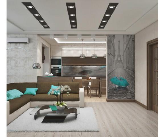 Дизайн проект квартиры 90м² в Киеве