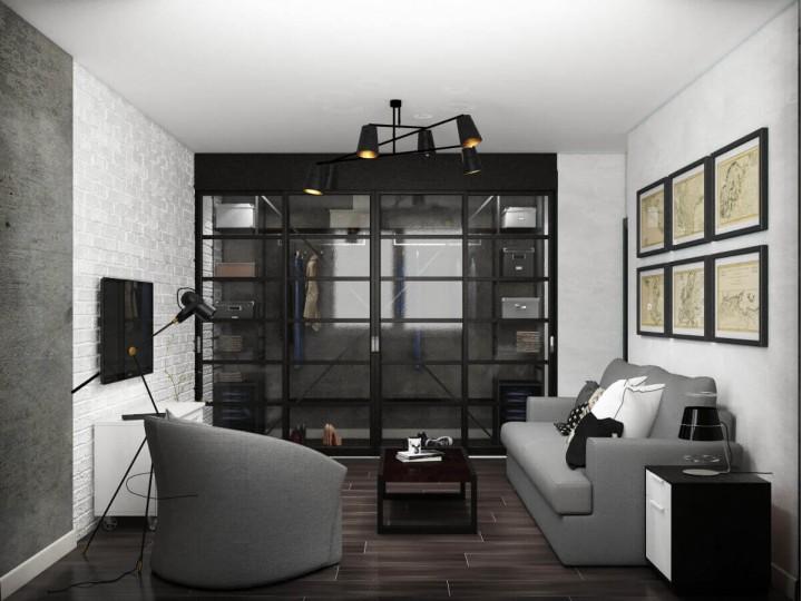 Интерьер квартиры 64м² ЖК Лесной квартал, Дизайн студия © AbiStyle