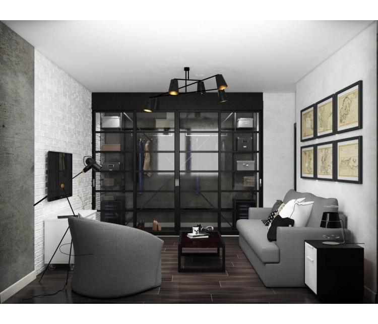 Дизайн проект квартиры 64м² ЖК Лесной квартал, Дизайн студия © AbiStyle