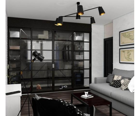 Дизайн проект квартиры 64м² ЖК Лесной квартал