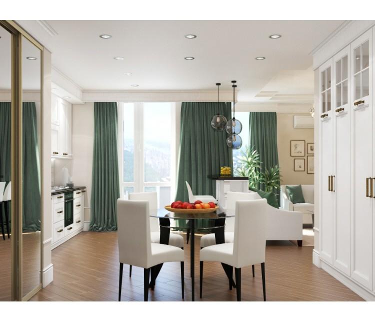 Дизайн проект квартиры 65м² ЖК Французский бульвар, Дизайн студия © AbiStyle