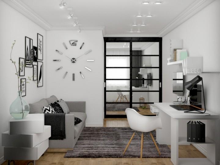 Интерьер квартиры 56м² в Киеве, Дизайн студия © AbiStyle