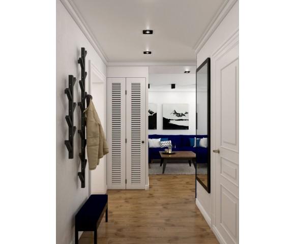 Дизайн проект квартиры 56м² в Киеве