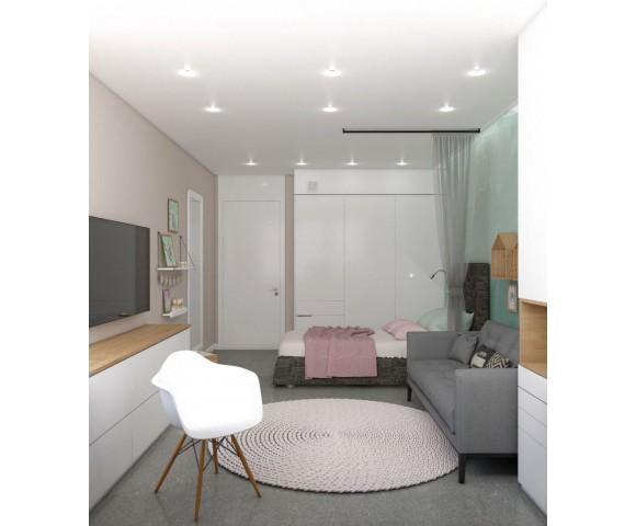 Дизайн проект квартиры 80м² в Киеве
