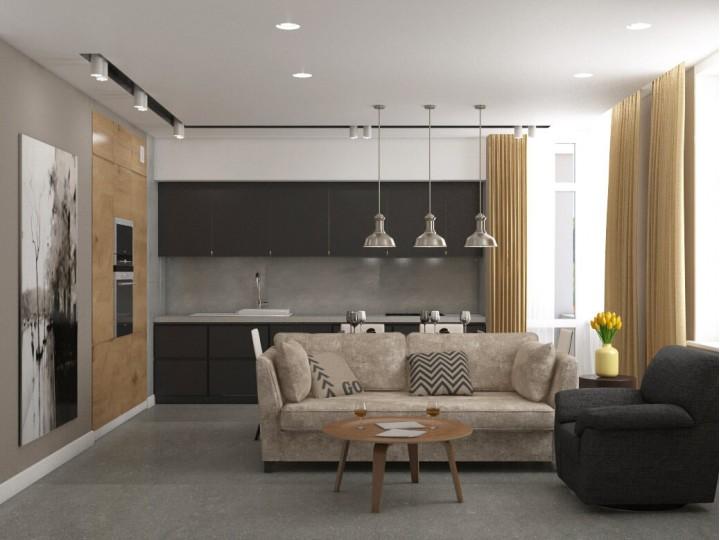 Интерьер квартиры 80м² в Киеве, Дизайн студия © AbiStyle