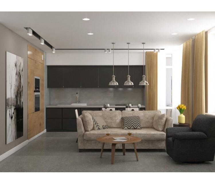 Дизайн проект квартиры 80м² в Киеве, Дизайн студия © AbiStyle