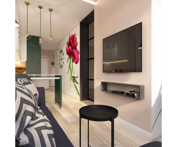 Дизайн проект квартиры 47м² ЖК Министерский