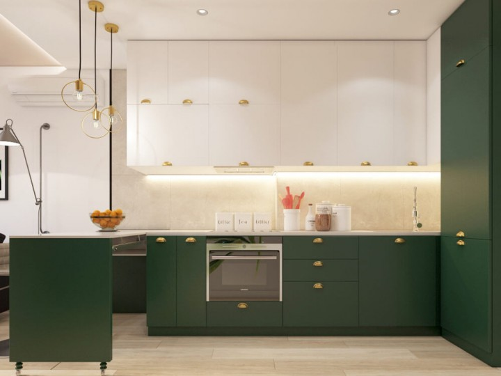Интерьер квартиры 47м² ЖК Министерский, Дизайн студия © AbiStyle