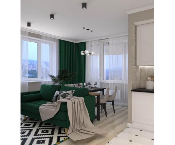 Дизайн проект квартиры 62м² в Киеве