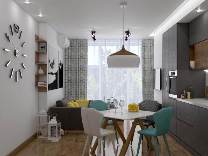 Интерьер квартиры 75м² ЖК Gloria Park, Дизайн студия © AbiStyle