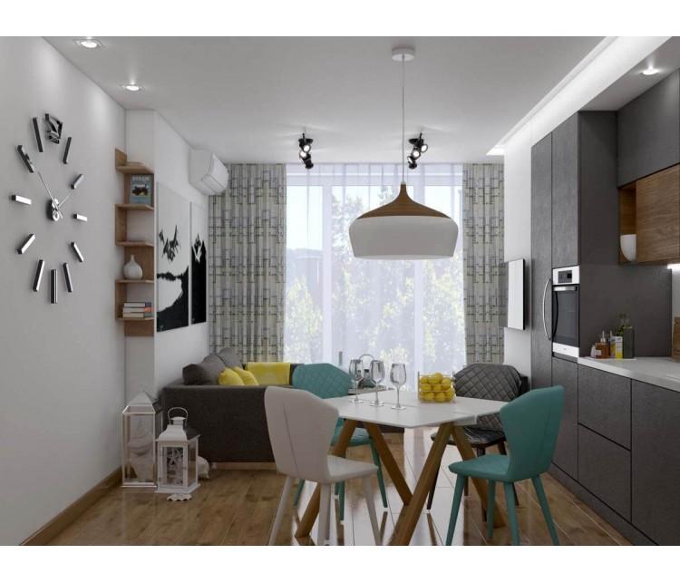 Дизайн проект квартиры 75м² ЖК Gloria Park, Дизайн студия © AbiStyle