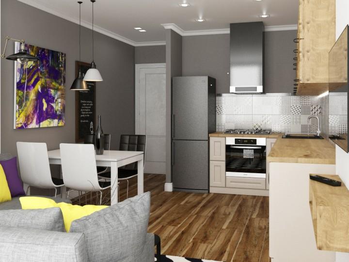 Интерьер квартиры 85м² ЖК Gloria Park, Дизайн студия © AbiStyle