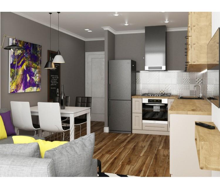 Дизайн проект квартиры 85м² ЖК Gloria Park, Дизайн студия © AbiStyle