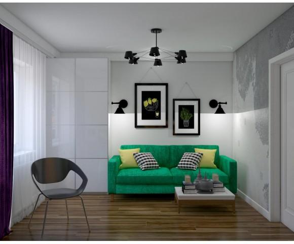 Дизайн проект квартиры 58м² Украина, Киев