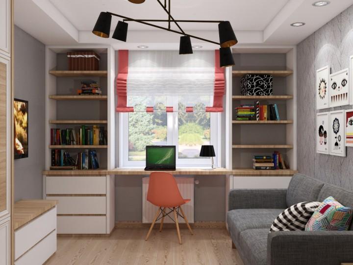Интерьер квартиры 58м² Украина, Киев, Дизайн студия © AbiStyle
