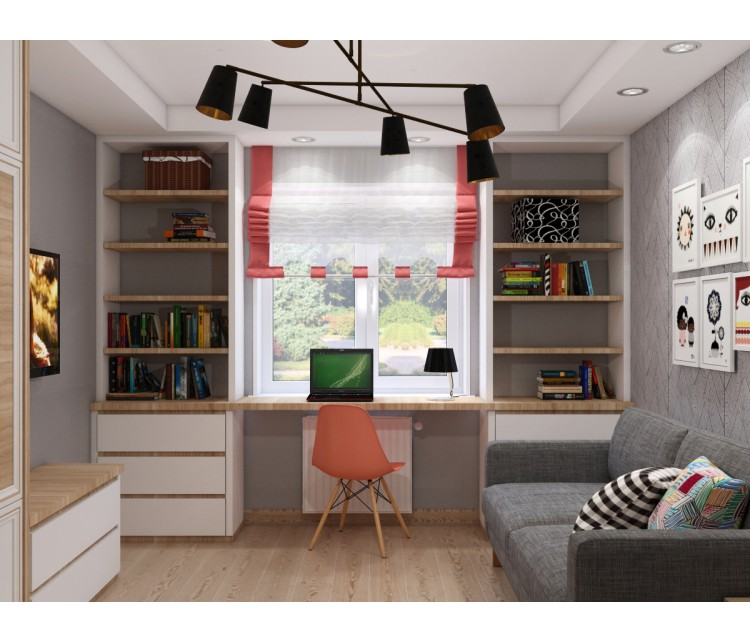 Дизайн проект квартиры 58м² Украина, Киев, Дизайн студия © AbiStyle