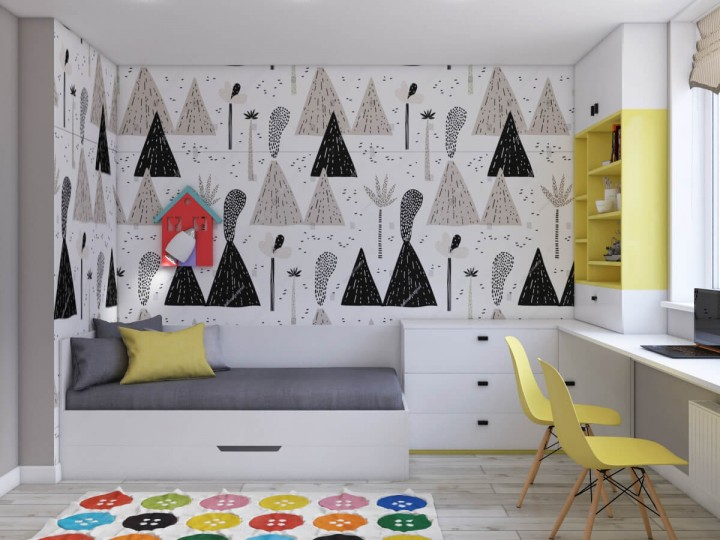 Интерьер квартиры 93м² в Киеве, Дизайн студия © AbiStyle