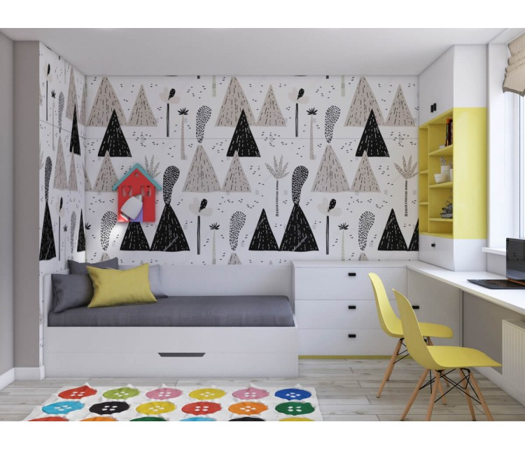 Дизайн проект квартиры 93м² в Киеве, Дизайн студия © AbiStyle