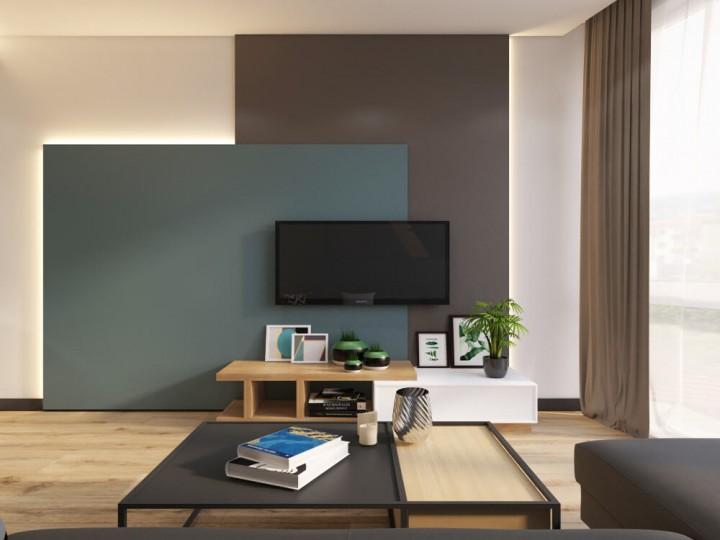 Интерьер квартиры 55м² ЖК Смарт Плаза, Дизайн студия © AbiStyle