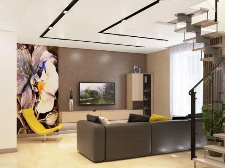 Интерьер квартиры 110м² ЖК Уютный квартал, Дизайн студия © AbiStyle