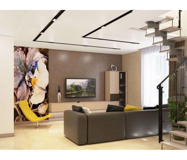 Дизайн проект квартиры 110м² ЖК Уютный квартал, Дизайн студия © AbiStyle