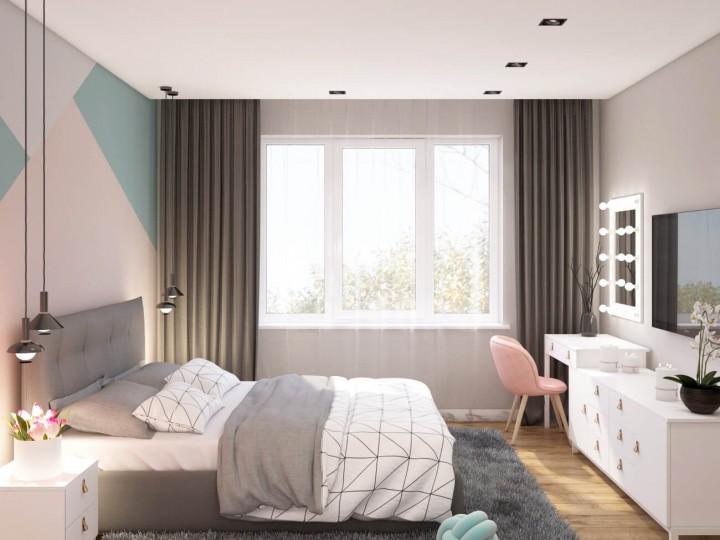 Интерьер квартиры 54м² ЖК Святобор, Дизайн студия © AbiStyle