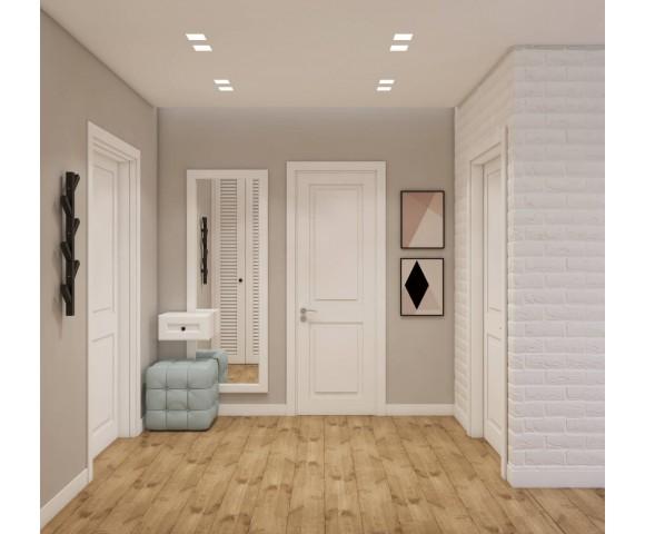 Дизайн проект квартиры 54м² ЖК Святобор