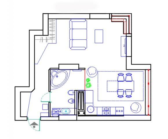 Дизайн проект квартиры 52м² ЖК 4 Сезона
