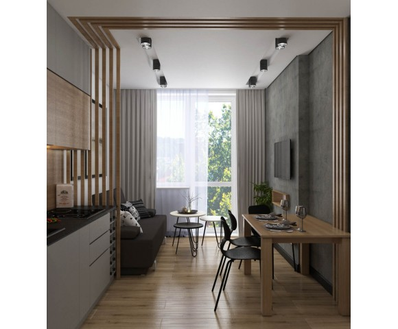 Дизайн проект квартиры 45м² ЖК Варшавский