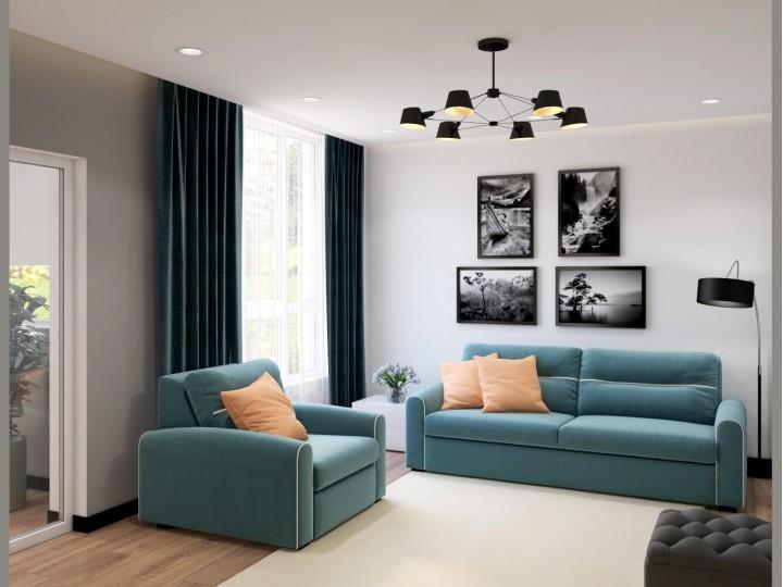 Интерьер квартиры 50м² г.Вишневое, Дизайн студия © AbiStyle